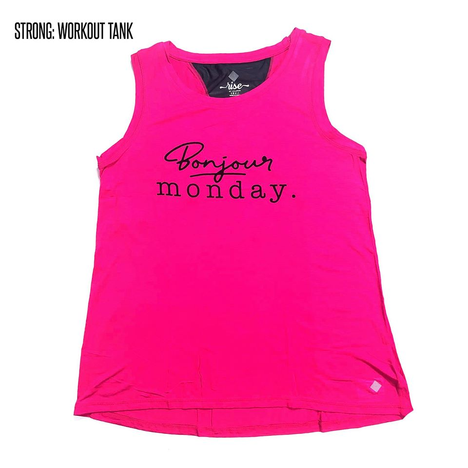 Strong Relaxed Fitness Tank XS Bonjour Monday