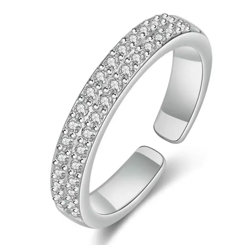 Adjustable Double Layer Ring