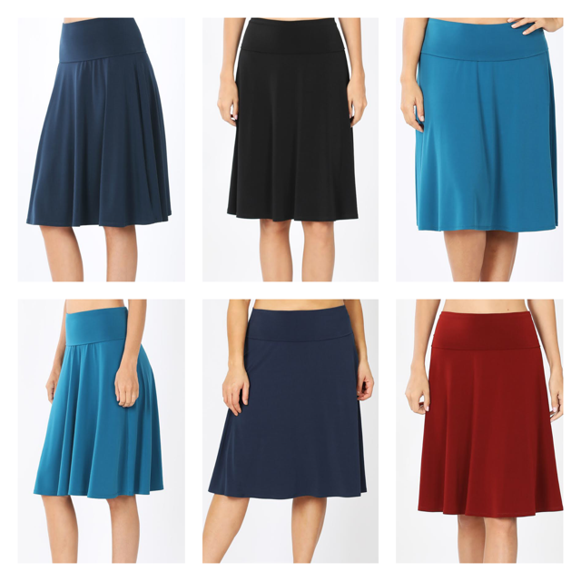 Alure Flared A-Line Skirt