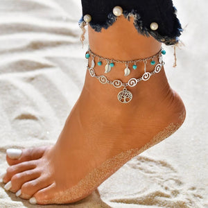 Double Strand Tree of Life Anklet