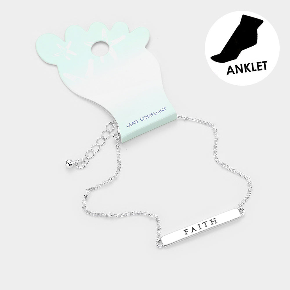 Faith Anklet