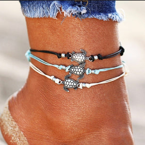 Turtle Anklet |3 colors available|