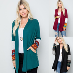 Aztec Fleece Cardigan with Pockets