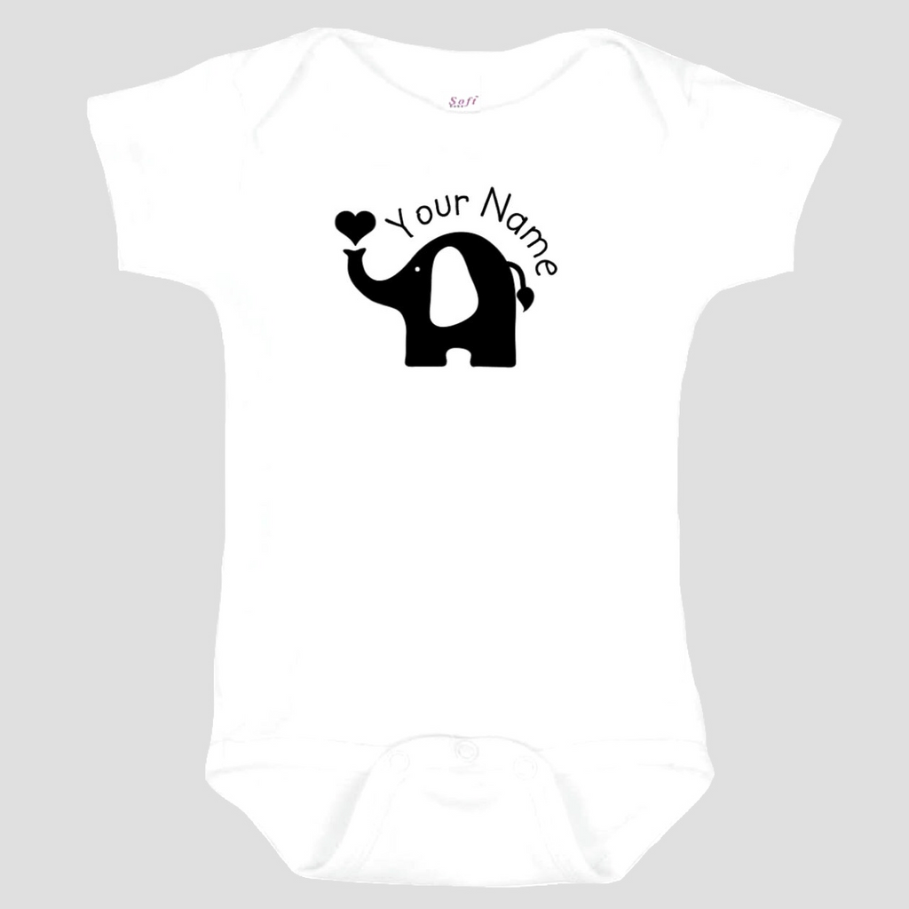 Baby Onesie: Elephant * add baby name