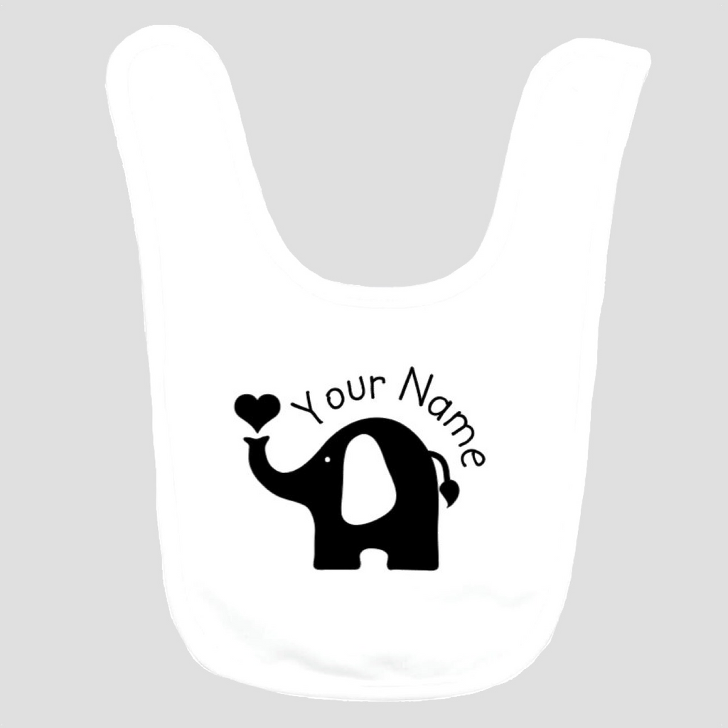 Baby Bib: Elephant * add baby name
