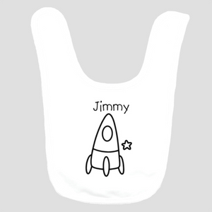 Baby Bib: Spaceship * add baby name