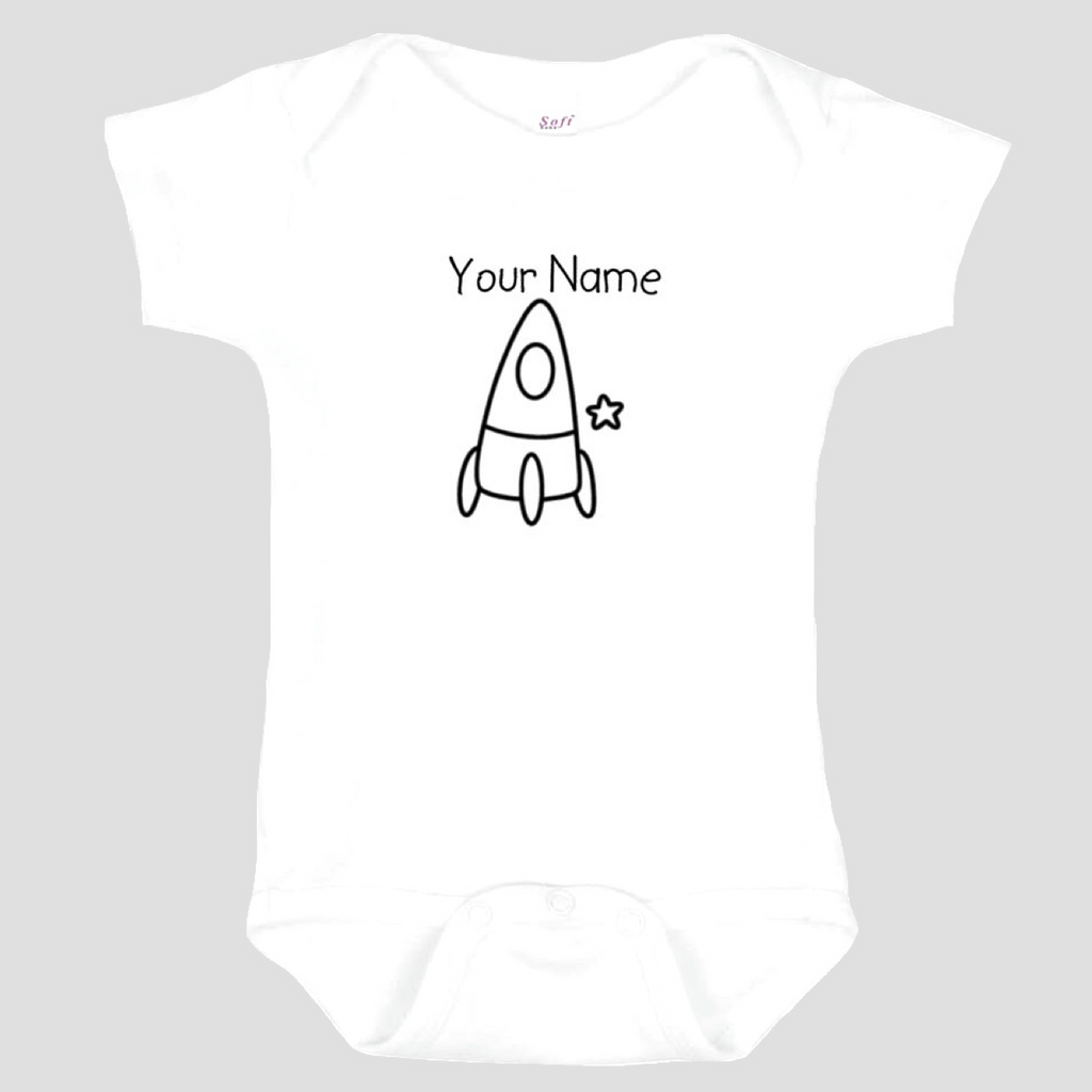 Baby Onesie: Spaceship * add baby name