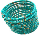 Beaded Stretch Cuff Bracelet |4 colors|