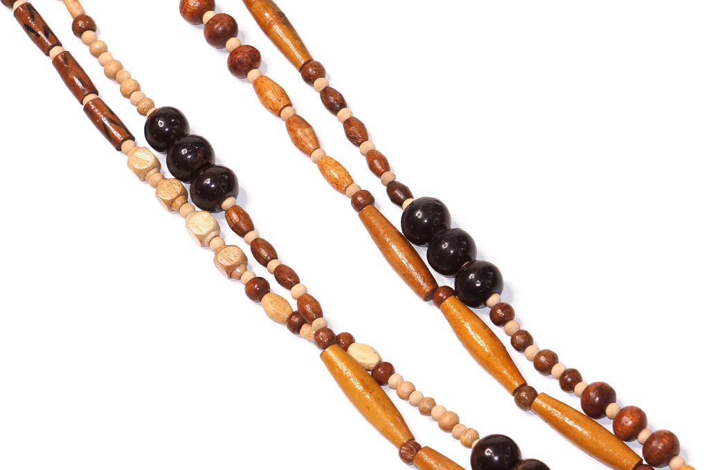 Boho Wooden Bead Necklace