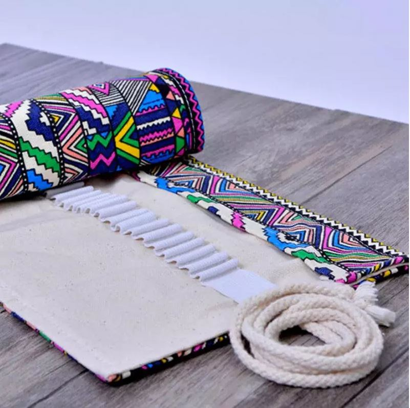 Embroidered Pencil/Brush Pouch