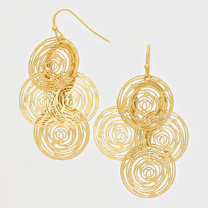 Circle Cluster Earrings |3 colors|