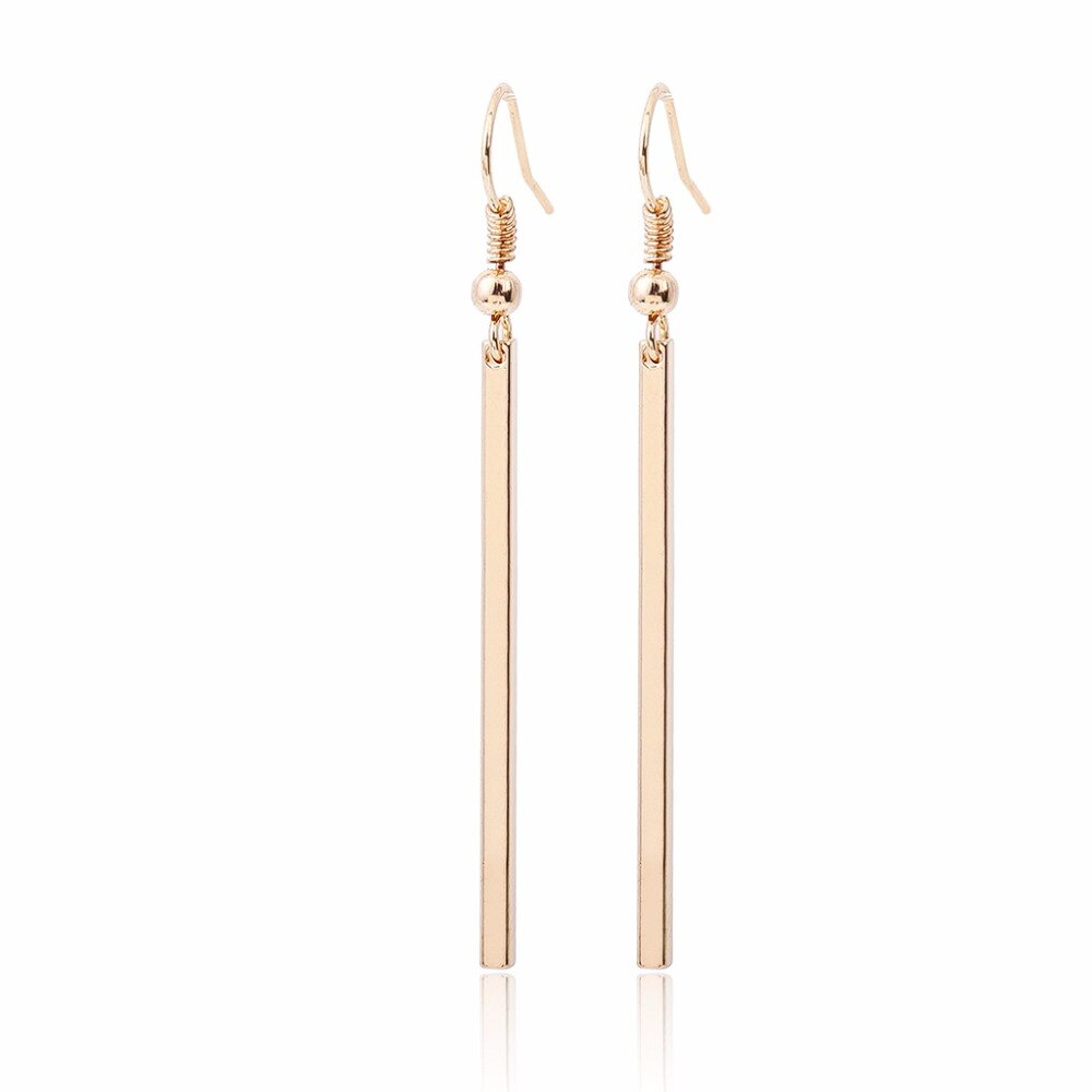 Bar Column Earrings |2 colors|