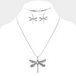 Dragonfly Necklace & Earring Set