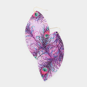 Feather Fringe Earrings |2 colors|