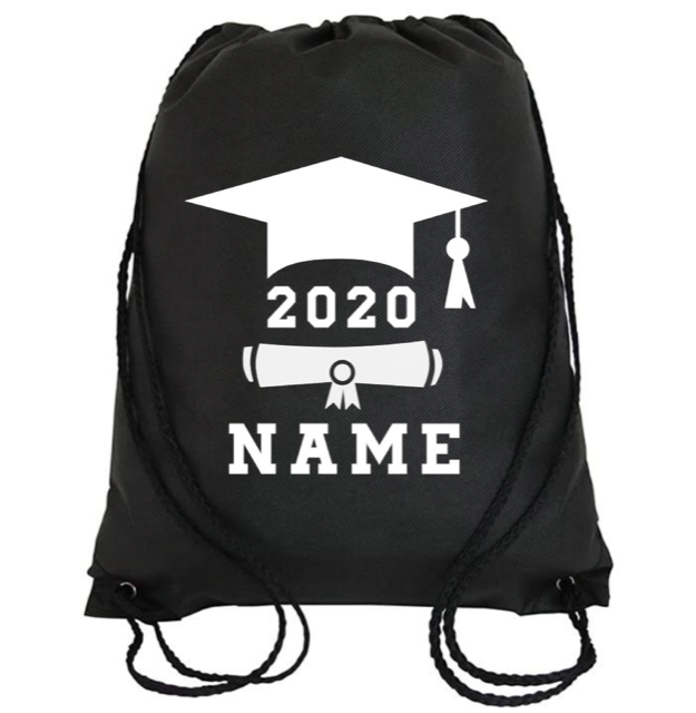 Cinch Bag: Graduate Cap & Diploma * Personalized