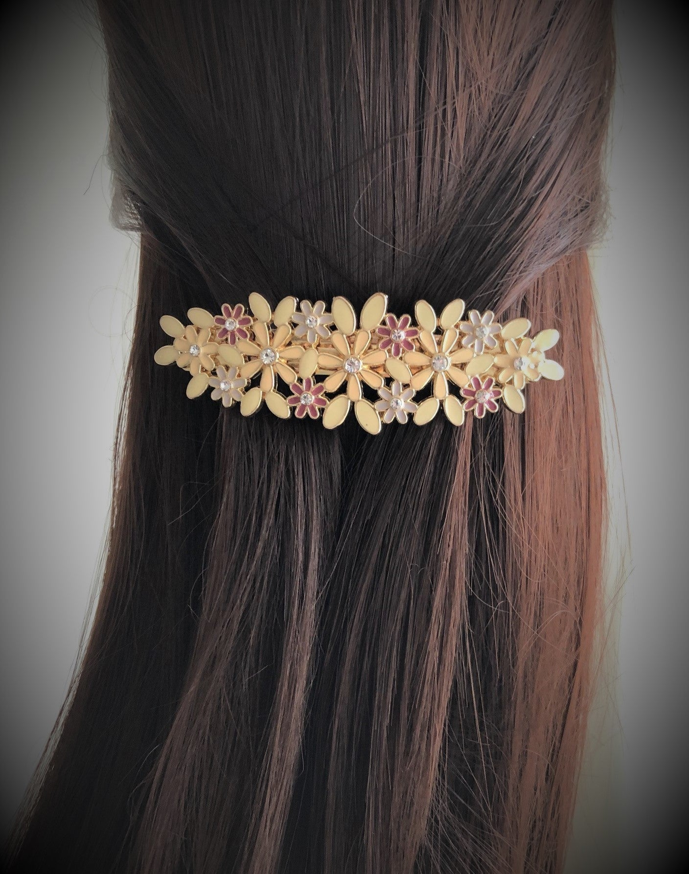Floral Hair Clip in Mauve