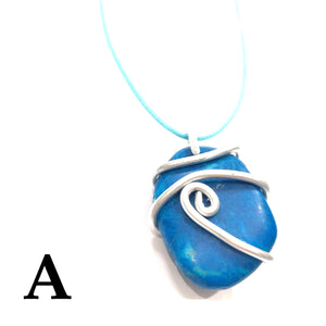 Tumbled Stone Pendant Necklaces