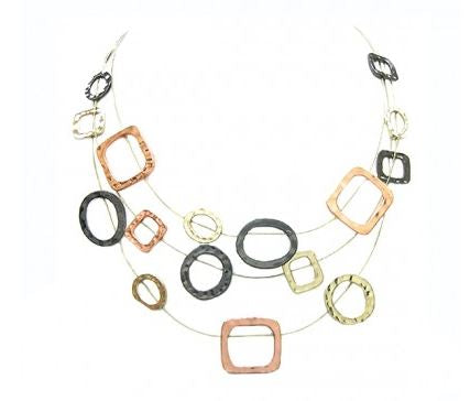 Illusion Bib Necklace |4 colors|