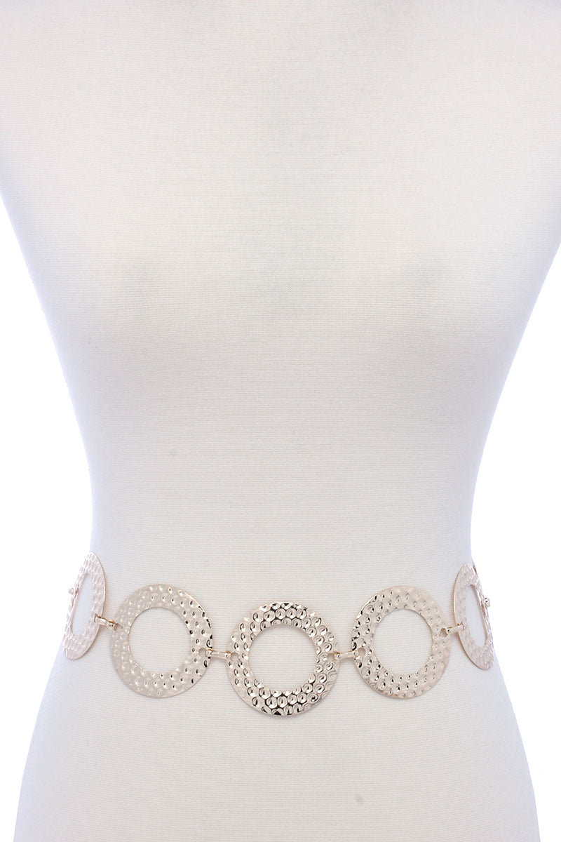 Circle Link Fashion Jewelry Belt |silver or gold|