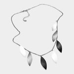 Metallic Leaf Necklace |3 colors|
