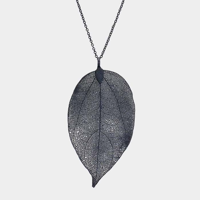 Leaf Pendant Necklace |2 colors|