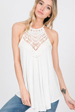 Lilly Crochet Lace Tank