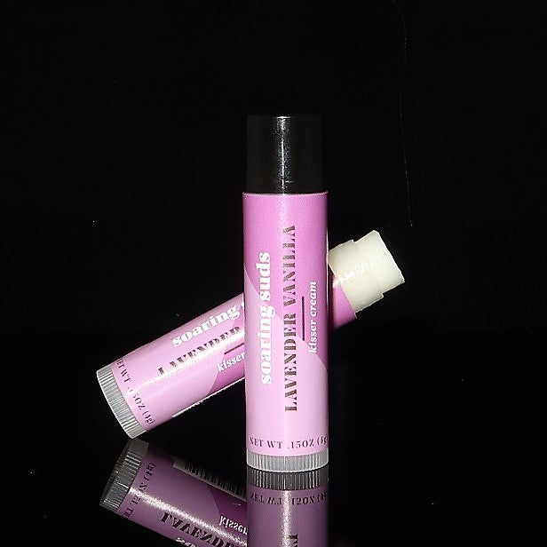 balm, lip balm, chap stick, vanilla, lavender, lips, cracked lips, dry lips, natural