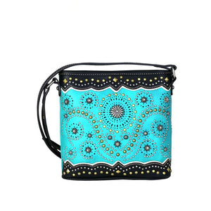 Turquoise Concho Crossbody Bag