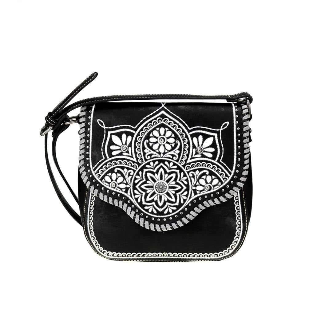 Embroidered Tribal Floral Aztec Crossbody