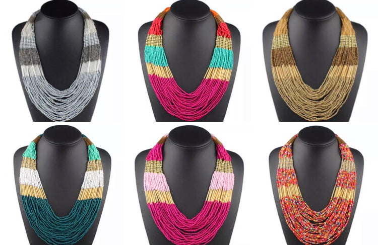 Multicolor Beaded Necklace |6 colors|