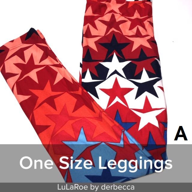 Printed Leggings OS Patriotic