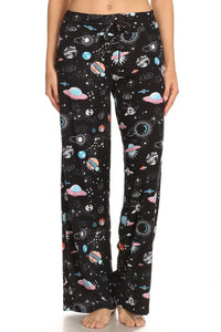Legging Material Drawstring Lounge Pant Outer Space