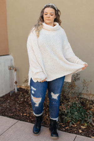 Popcorn And A Movie Sweater in Ivory