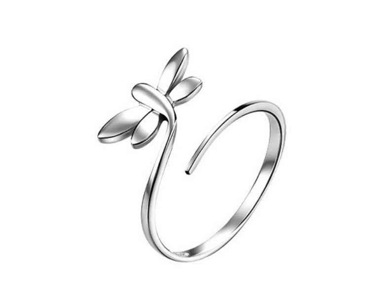 Adjustable Dragonfly Ring