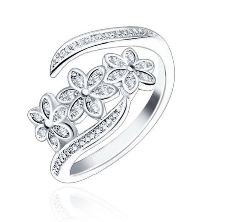 Adjustable Floral Trio Ring