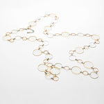 Hoop Link Chain Necklace & Earring Set |2 colors|