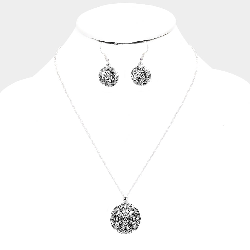 Filigree Necklace & Earring Set