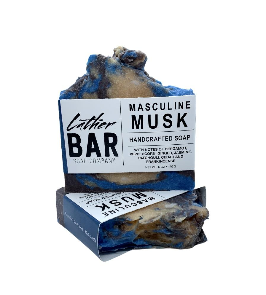 Masculine Musk Lather Bar Soap