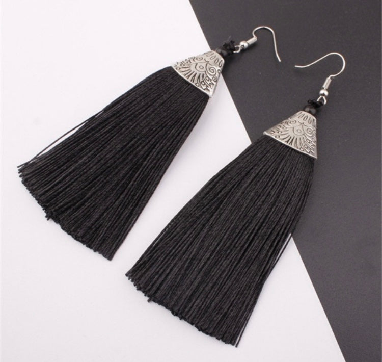 Tassel Earrings |5 colors|