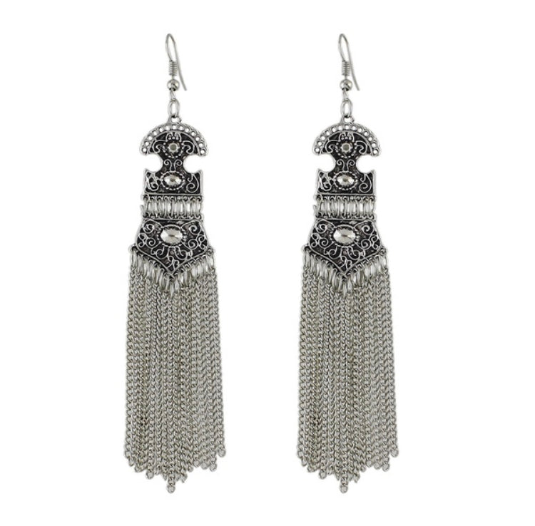 Tibet Tassel Chain Earrings