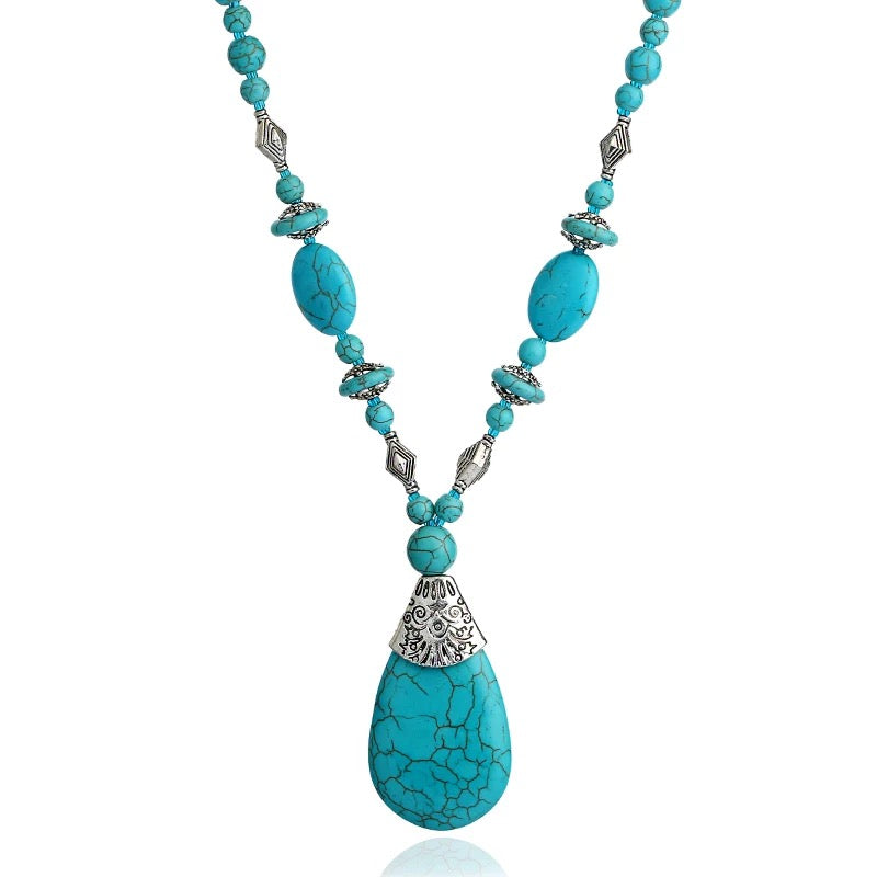 Turquoise Drop Pendant Necklace