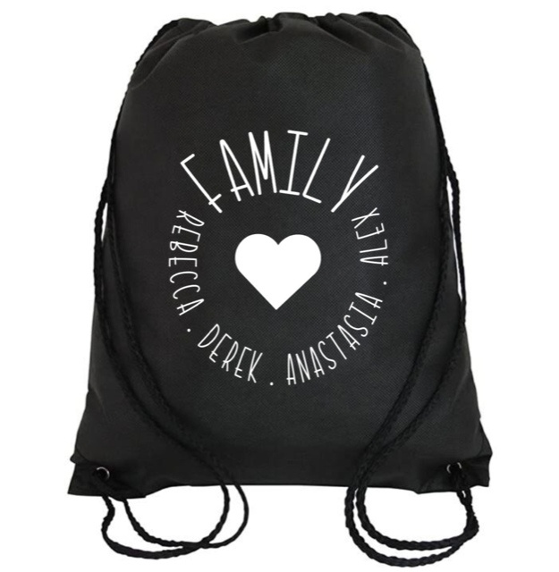 Cinch Bag: Family Circle * Personalized