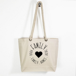 Canvas Rope Handle Tote Bag: Family Circle * Personalized