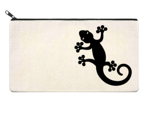 Canvas Zippered Pouch: Gecko