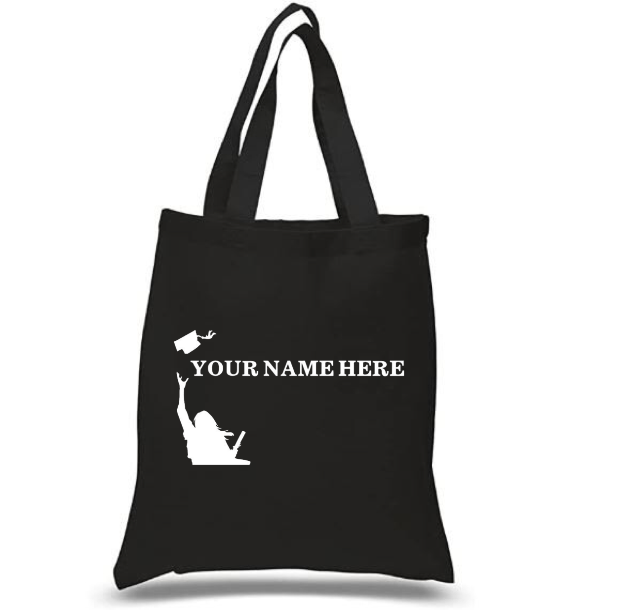 Tote Bag: Graduate Girl * Personalized