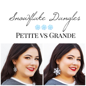 Dixie Bliss Earrings: Holiday Snowflake Dangles