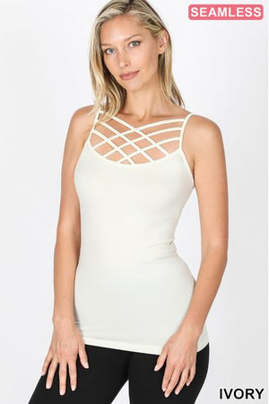 Seamless Triple Criss-Cross Bralette Long