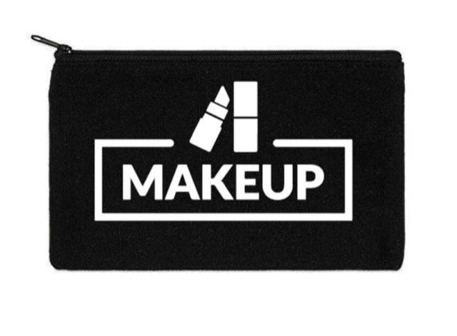 Canvas Zippered Pouch: Makeup