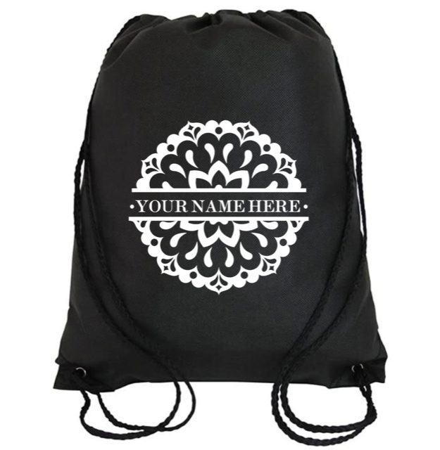 Cinch Bag: Mandala Personalized * Add your name