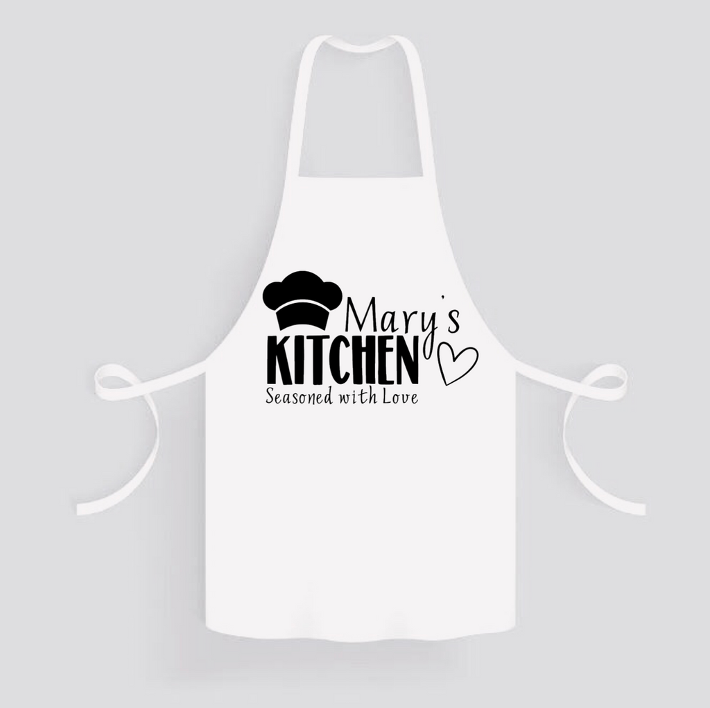 Apron: Seasoned with Love * Personalized * Add your name